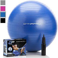 DYNAPRO Exercise Ball – 2,000 lbs Stability Ball – Professional Grade – Anti Burst E ...