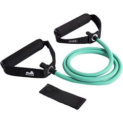 Reehut Single Resistance Band, Exercise Tube – With Door Anchor and Manual Green, For Resi ...