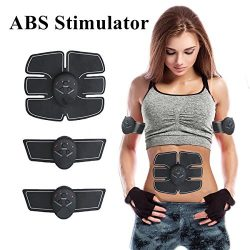 ABS Stimulator Muscle Toner,Abdominal Toning Belt EMS Muscle Trainer Soft Impulse with 6 Models& ...