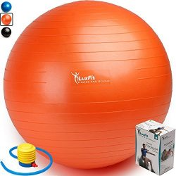 LuxFit Exercise Ball, Premium EXTRA THICK Yoga Ball '2 Year Warranty' – Swiss  ...