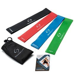 Starwood Sports Exercise Resistance Loop Bands – Set of 4