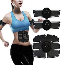 Alferdo ABS Stimulator Muscle Trainer Toner – Ultimate Abdominal Toning Belt Portable Unis ...