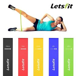 Letsfit Resistance Loop Bands, Resistance Exercise Bands for Home Fitness, Stretching, Strength  ...