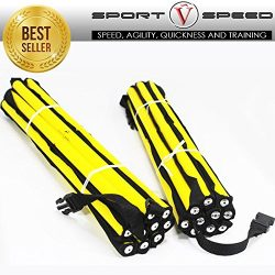 Sport Speed (Two) NO CHEAT – Agility Ladders Round Rung Team Grade Heavy Duty with Free Ca ...