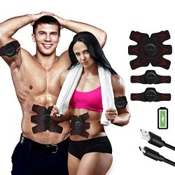 Subok ABS STIMULATOR Rechargeable Abdominal Muscle Toner Trainer – Portable Toning Belt Ul ...