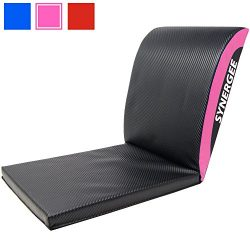 iheartsynergee Power Pink Core Ab Mat Abdominal Mat Sit-Up Pad with Tail Bone Pad – Abdomi ...