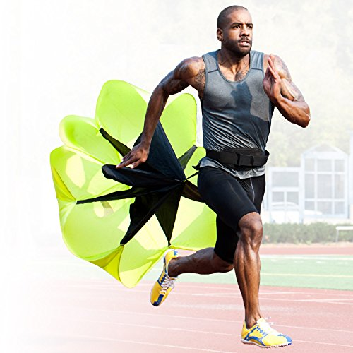 High Pulse Speed and Stamina Increasing Resistance Parachute for Kids and Adults by ideal for Ag ...