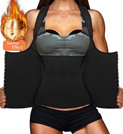 LODAY Womens Shapewear Weight Loss Neoprene Sauna Sweat Waist Trainer Corset Tank Top Vest Sport ...