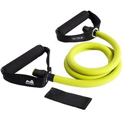 REEHUT Single Resistance Band, Exercise Tube – With Door Anchor and Manual Atomic