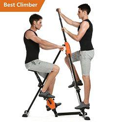 Tomasar Vertical Climber Machine Folding Stepper Exercise Machine for Home Gym Fitness Workout & ...