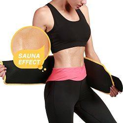 Roseate Waist Trimmer Belt for Men and Women Weight Loss Workout Sweat Wrap Tummy Fat Burner Abd ...