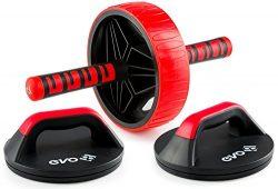 Yoga EVO Abdominal Trainer Kit – Ab Wheel + Knee Pad + Online Video Exercises (Ab + Pushup ...