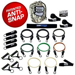 Bodylastics The Combat Ready Warrior Resistance Band Sets come with 6 or 8 of Our Anti-Snap Exer ...