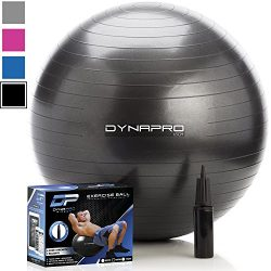 DYNAPRO Exercise Ball – 2,000 lbs Stability Ball – Professional Grade – Anti Burst E ...