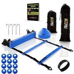 Bltzpro AGILITY LADDER with SOCCER CONES-A Fitness Training Gear used by Athelets & Coaches  ...