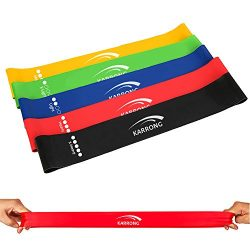 Karrong Resistance Bands Exercise Loop Band, 12-inch Workout Bands for Home Fitness, Stretching, ...