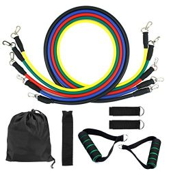 Dokpav Resistance Bands, Exercise Bands Include 5 Different Levels Exercise Bands, Door Anchor,  ...