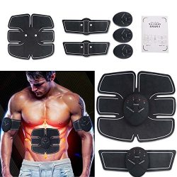 BELKLM ABDOMINAL TRAINING MUSCLE UNISEX -Portable Smart EMS Abdominal PAD Fitness Gear Exerciser ...