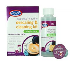 Urnex Nespresso Machine Descaler and Cleaner – 2 Step Descaling and Cleaning Kit