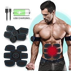 ABSLIMUS Pro USB Charging Muscle Toner Abs Simulator Abdominal Toning Belt Workouts Wireless EMS ...