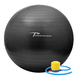 Timberbrother Anti-Burst Exercise Stability Ball / Fitness Ball / Balance Ball with Foot Pump &# ...