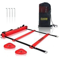 Power Guidance Agility Ladder (19 Feet) for Speed & Agility Trainning – with 12 Heavy  ...