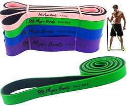 Physix Gear Pull Up Assist Bands – Best Heavy Duty Resistance Band for Assisted Pullups, M ...