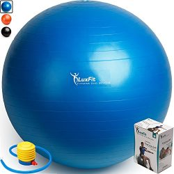 Exercise Ball, LuxFit Premium EXTRA THICK Yoga Ball '2 Year Warranty' – Swiss  ...