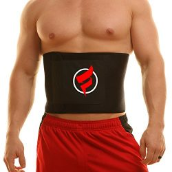 Fitru Waist Trimmer Weight Loss Ab Belt For Men & Women – Waist Trainer Stomach Wrap ( ...