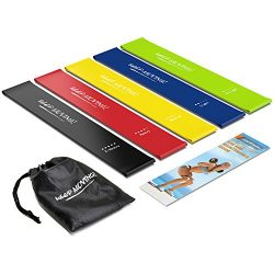 Semx Resistance Bands, [Set of 5] Exercise Bands with E-Book/User Guide/Carry Bag, Resistance Lo ...