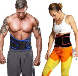 VENAS Waist Trimmer Belt Adjustable Slimmer Kit Weight Loss Wrap Stomach Fat Burner Low Back and ...