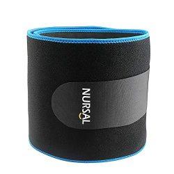 NURSAL Waist Trimmer for Weight Loss Workout Sweat Enhancer Exercise Adjustable Wrap and Waist T ...