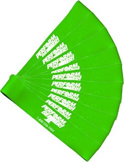 Perform Better Exercise Mini Band, Green-Medium – Set of 10 (Exercise Guide Included)