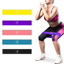 Resistance Loop Bands Home Gym Fitness Exercise Bands for Legs, Glutes, Crossfit Workout, Physic ...