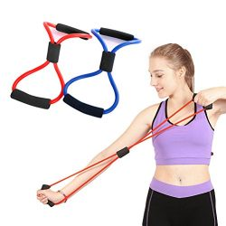 Odowalker Exercise Band Training Resistance Bands Rope Tube Workout Fashion Body Building Fitnes ...