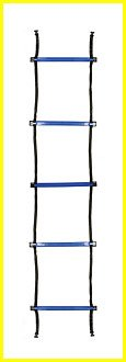 Champion Sports Sectioned Agility Ladder Set, Red/Yellow/Blue/Green, 6.5″ x 16″ Wide