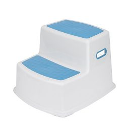 Acko Dual Height Step Stool Design with Anti-slip Surface for Toddler Potty Training kid Exercis ...