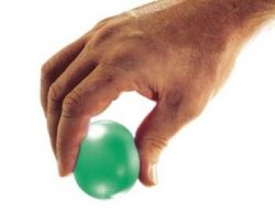 TheraBand Hand Exerciser Squeeze Ball (Green – Medium, Extra Large)