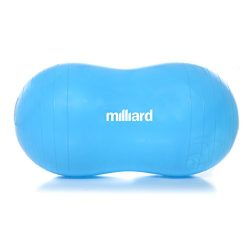 Milliard Anti-Burst Peanut Ball Approximately 31×15″ (80x40cm) Physio Roll for Exerci ...