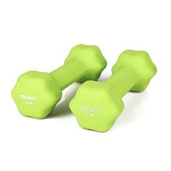PROMIC 1lb to 20lb Hand Weights Deluxe Solid Vinyl Dumbbells with Non-Slip Grip for Hand Exercise