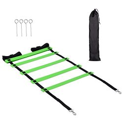 Lucco Training Agility ladder, Sport Speed Agility Ladder with Quick Lock Adjustable Flat Rungs  ...