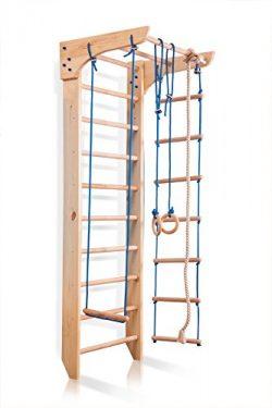 "Wood Stall Bar, Wall Bars, Swedish Ladder""Kinder-2-240″ Home Gym Gymnastic, Climbing ..."