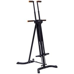 Goplus Vertical Climber Folding Stepper Adjustable Height with LED Display Climbing Fitness Work ...