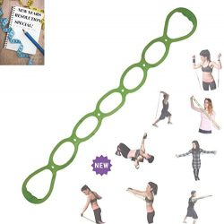 FOMI 7 Ring Stretch and Resistance Exercise Band | Back, Foot, Leg, and Hand Stretcher, Arm Exer ...