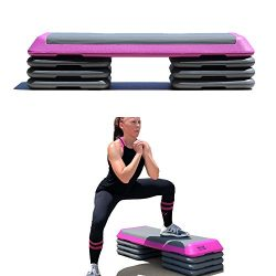 One Strong Southern Girl Workout Stepper with Extra Risers-Perfect for Body Pump and Aerobics (Pink)