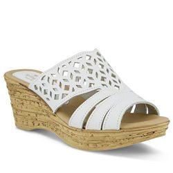 Spring Step Women's Vino Wedge Sandal, White, 41 EU/9.5-10 M US