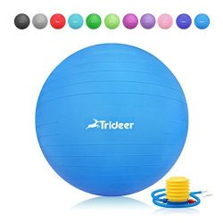 Trideer 45-85cm Exercise Ball, Birthing Ball, Ball Chair, Yoga Pilate Fitness Balance Ball with  ...