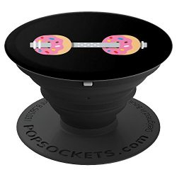 Dumbbells Donuts Weightlifting Funny Gym Workout – PopSockets Grip and Stand for Phones an ...