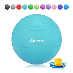 Trideer 55-85cm Exercise Ball, Birthing Fitness Yoga Pilate Balancing Ball with Pump Plug Kit, A ...