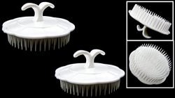 2 ALAZCO Massaging Shampoo Brush Head Scalp Massager Hair Comb With Finger Ring – Home, Gy ...